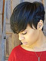 Natural Elegant Black Short Hair Human Hair Wig For Women