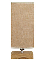Modern Table Lamp  Fabric Lampshade And Woodbase