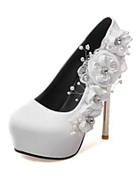 Women's Heels Summer Fall Club Shoes PU Wedding Party & Evening Dress Stiletto Heel Flower