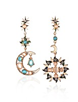 Sun Srar Drop Earrings Crystal Unique Design Opal Alloy Jewelry For Party Daily Casual 1 pair
