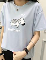 Знак с короткими рукавами футболки рубашки женского лета 2017 новой волны мс. Свободная дикая рубашка с круглым вырезом сострадательная