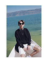 Men's Casual/Daily Going out Activewear Set Solid Round Neck Micro-elastic Cotton Long Sleeve Spring