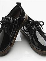 Черный-Мальчики-Повседневный-Полиуретан-На плоской подошве-Удобная обувь-Туфли на шнуровке