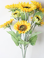 1 Branch Dried Flower Daisies Tabletop Flower Artificial Flowers