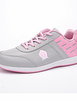 Women's Sneakers Spring Summer Mary Jane PU Outdoor Athletic Casual Flat Heel Lace-up Running