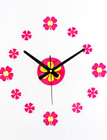 DIY Fashion Creative Lucky Flower Mute Wall Clocks