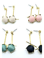 Drop Earrings Earrings Set Jewelry Unique Design Pendant Fashion Wedding Party Alloy 1 pair Beige Black Pearl Pink Pool