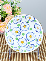 High temperature Porcelain Dining Bowl Dinnerware Flower with green spot