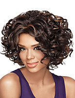 Fashion Curly Black To Brown Color Synthetic Wigs For European And Afro Women
