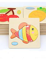 Пазлы Набор для творчества Обучающая игрушка Деревянные пазлы Строительные блоки Игрушки своими руками Рыбки 1 Хобби и досуг