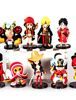 Anime Action Figures Inspired by One Piece Monkey D. Luffy PVC 7 CM Model Toys Doll Toy9PCS
