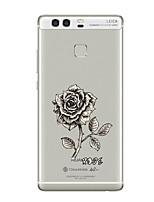 Pour Transparente Motif Coque Coque Arrière Coque Fleur Flexible PUT pour HuaweiHuawei P10 Plus Huawei P10 Huawei P9 Huawei P9 Lite