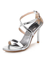 Women's Sandals Summer Fall D'Orsay & Two-Piece PU Office & Career Party & Evening Dress Stiletto Heel Buckle