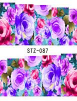 10pcs/set Fashion Beautiful Flower Nail Art Sticker Romantic Rose Nail Water Transfer Decals Sweet Style Nail Art Decals STZ-087