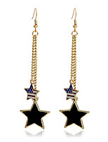 Dangle Earrings Jewelry Alloy USA Simple Style Star Flag Gold Jewelry Party Daily Casual 1 pair