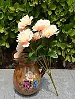 1 Une succursale Plastique Oeillets Fleur de Table Fleurs artificielles 25*25*32