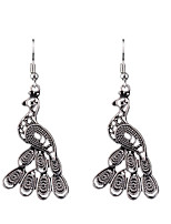 European And American Fashion Exquisite Carved Hollow Peacock Earrings