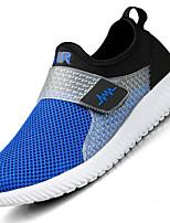 Men Sneakers Spring Summer Fall Light Soles Tulle Outdoor Athletic Casual Flat Heel Blue Red Dark Blue Running