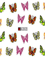 10pcs/set Beautiful Nail Art Sticker Colorful Butterfly Nail Water Transfer Decals DIY Beauty Tip A342
