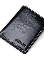 Men Cowhide Formal Casual Outdoor Office & Career Shopping Wallet All Seasons