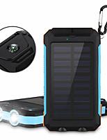 6000mAhbanque de puissance de batterie externe Charge Solaire Sorties Multiples Lampe Torche 6000 2000Charge Solaire Sorties Multiples