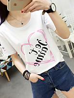 Summer new Korean women's short-sleeved T-shirt female models Sign