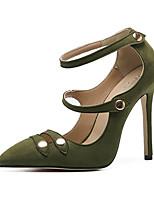 Черный Зеленый-Для женщин-Свадьба Для офиса Для вечеринки / ужина Для праздника Повседневный-Тюль Дерматин-На шпильке-Удобная обувь