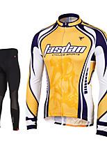 TASDAN® Maillot et Cuissard Long de Cyclisme Homme Manches longues VéloRespirable / Séchage rapide / Zip frontal / Compression / La peau