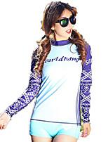 SBART® Жен. Топ для гидрокостюма Ультрафиолетовая устойчивость Защита от излучения Защита от солнечных лучей Эластан ТериленВодолазный