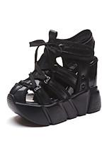 Femme-Bureau & Travail Habillé Décontracté-Blanc Noir Rouge-Talon Compensé-Confort-Chaussures à Talons-Polyuréthane