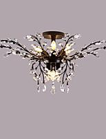 Montagem do Fluxo ,  Contemprâneo Tradicional/Clássico Rústico/Campestre Rústico Pintura Característica for Cristal LED MetalSala de