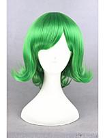 kurze lockige von innen nach außen Ekel grün 14inch ainme synthetischen Partei Cosplay Perücke cs-274c