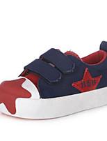 Красный Зеленый-Девочки-Для прогулок Повседневный-Полотно-На плоской подошве-Удобная обувь-Кеды