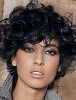 Prevailing Black Short Curly Hair  Synthetic Wig  Suitable For All Kinds Of People
