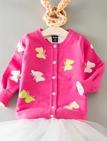 Casual/Daily Print Animal Print Sweater & Cardigan,Cotton Spring Fall Long Sleeve Regular