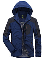 Men's Jacket Fishing Backcountry Breathable Thermal / Warm Windproof Spring Gray Dark Blue Army Green