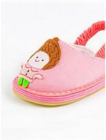 Розовый-Девочки-Для прогулок Повседневный-Полотно-На плоской подошве-Удобная обувь-Сандалии