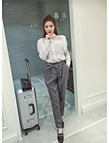 CHINSTUDIO custom autumn new Korean Fan Leisi white shirt female long-sleeved shirt stitching