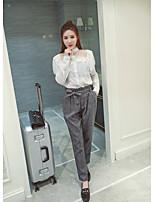 chinstudio coutume automne nouveau fan coréen Leisi chemise blanche femme manches longues coutures chemise