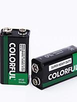 9v colorido pilha de zinco seco bateria 9v 10 pack