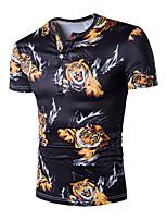 Tee-shirt Homme,Imprimé Grandes Tailles simple Chic de Rue Actif Toutes les Saisons Manches Courtes Col en V Coton Moyen