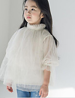 Going out Casual/Daily Solid Tee,Cotton Summer Spring Fall ½ Length Sleeve Regular