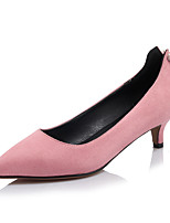 Черный Персиковый Розовый Миндальный-Для женщин-Для офиса Для праздника Повседневный-Флис-На шпильке-клуб Обувь-Обувь на каблуках