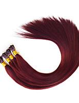 Pré-ligado i ponta extensão de cabelo extensão de cabelo humano extensões burgandy 530 1g / stand 18
