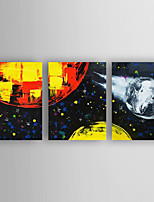Hand-Painted  Abstract Set of 3 Canvas Oil Painting With Stretcher For Home Decoration Ready to Hang