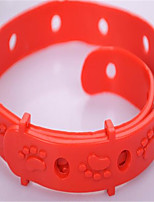 Dog Collar Adjustable/Retractable Solid Rubber