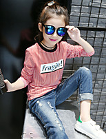 Casual/Daily Striped Blouse,Cotton Spring Long Sleeve Regular