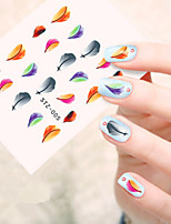 5pcs/set Autocollant d'art de clou Autocollants de transfert de l'eau Maquillage cosmétique Nail Art Design