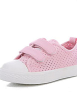 Черный Розовый-Девочки-Для прогулок Повседневный-Полотно-На плоской подошве-Удобная обувь-Кеды