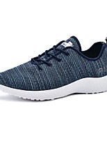 Men's Sneakers Spring Summer Fall Mary Jane Comfort Couple Shoes Light Soles Fabric Outdoor Athletic Casual Flat Heel Lace-up Running